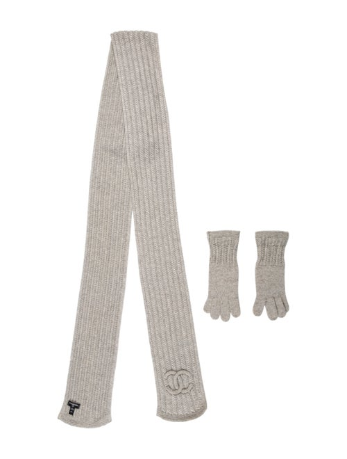 Chanel Cashmere Two-Piece Set Grey