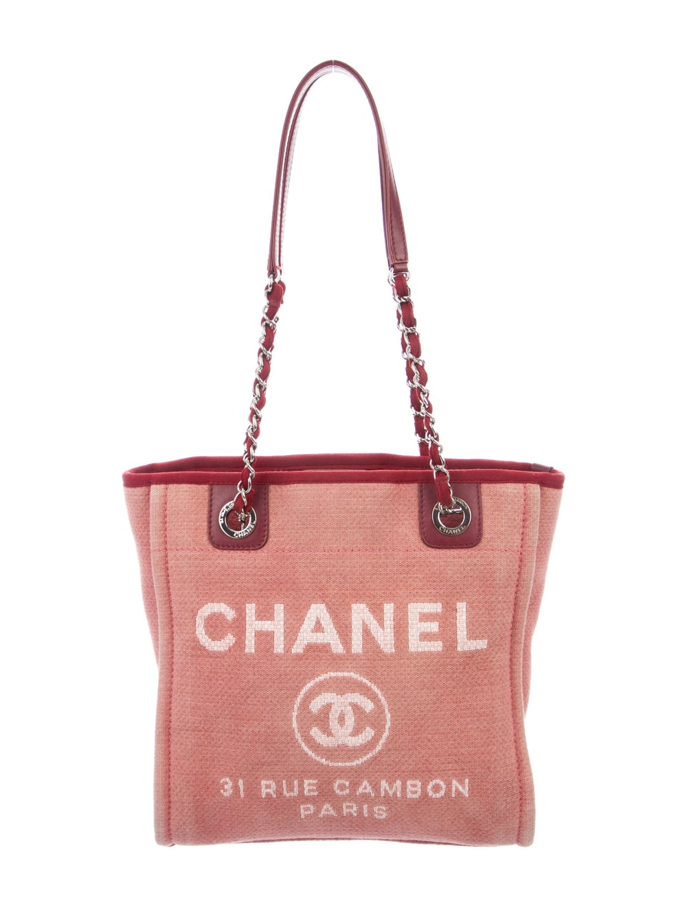 Chanel Small Deauville Bag Pink - image 1