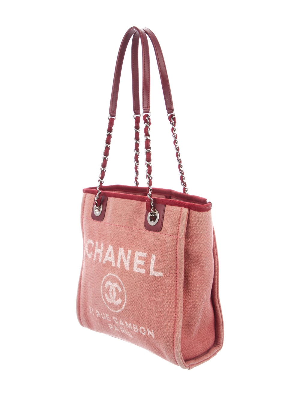 Chanel Small Deauville Bag Pink - image 3