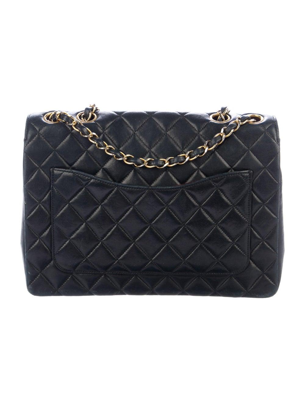 Chanel Vintage Half Moon Flap Bag Blue - image 4