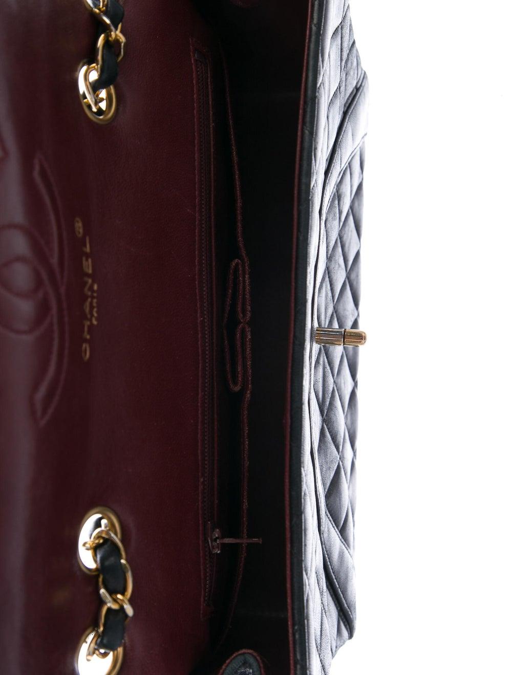 Chanel Vintage Half Moon Flap Bag Blue - image 5