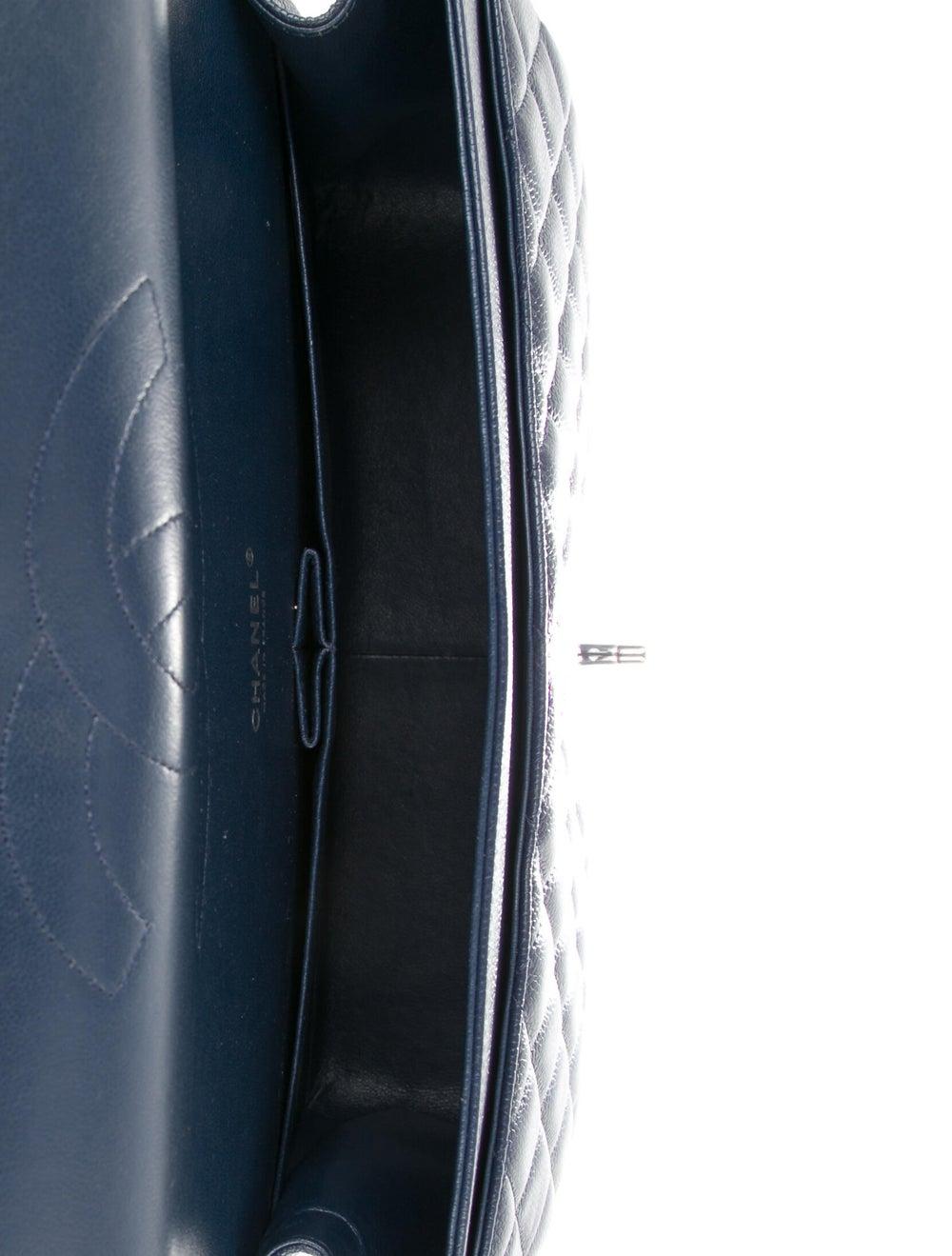 Chanel Classic Maxi Double Flap Bag Blue - image 5