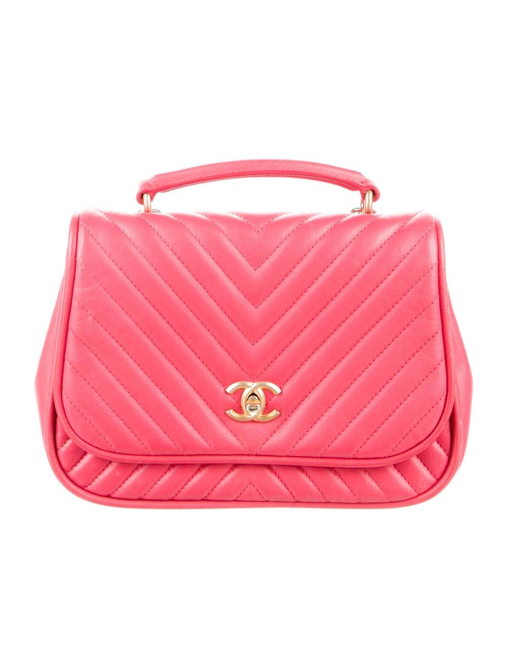 Chanel Reversed Chevron Bag Pink - image 1