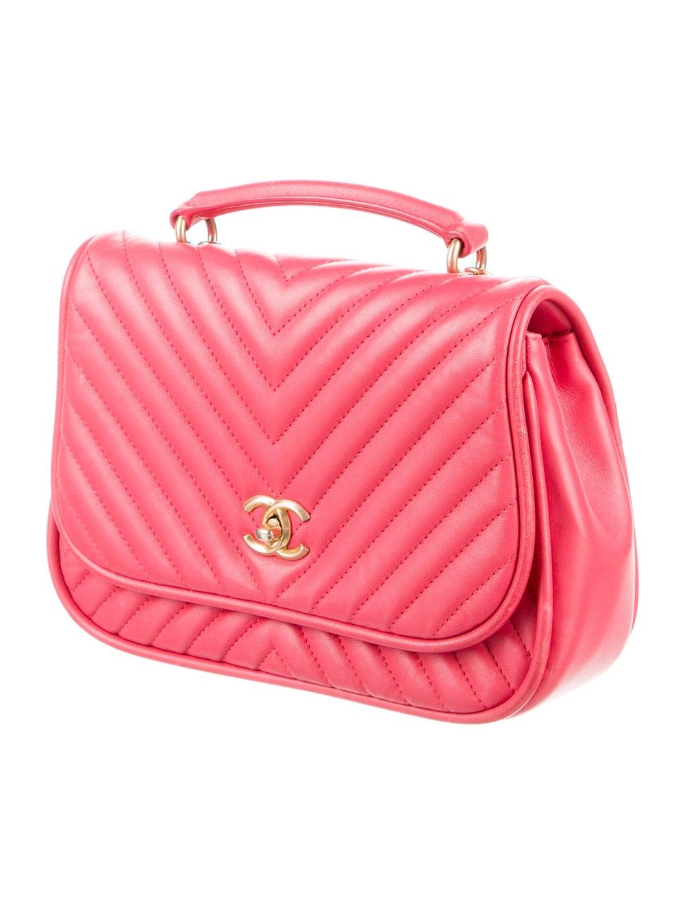 Chanel Reversed Chevron Bag Pink - image 3