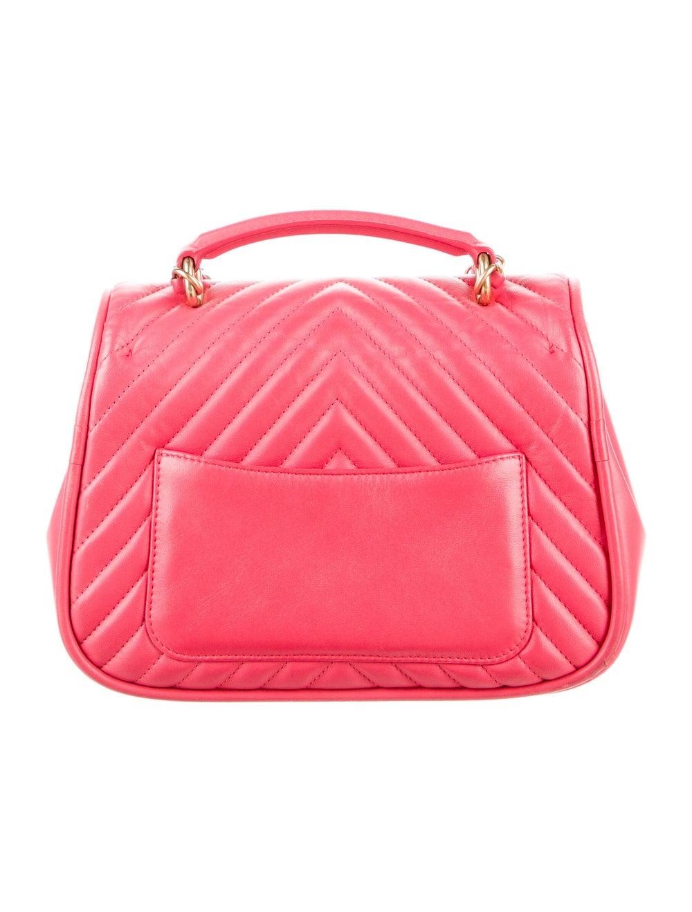Chanel Reversed Chevron Bag Pink - image 4