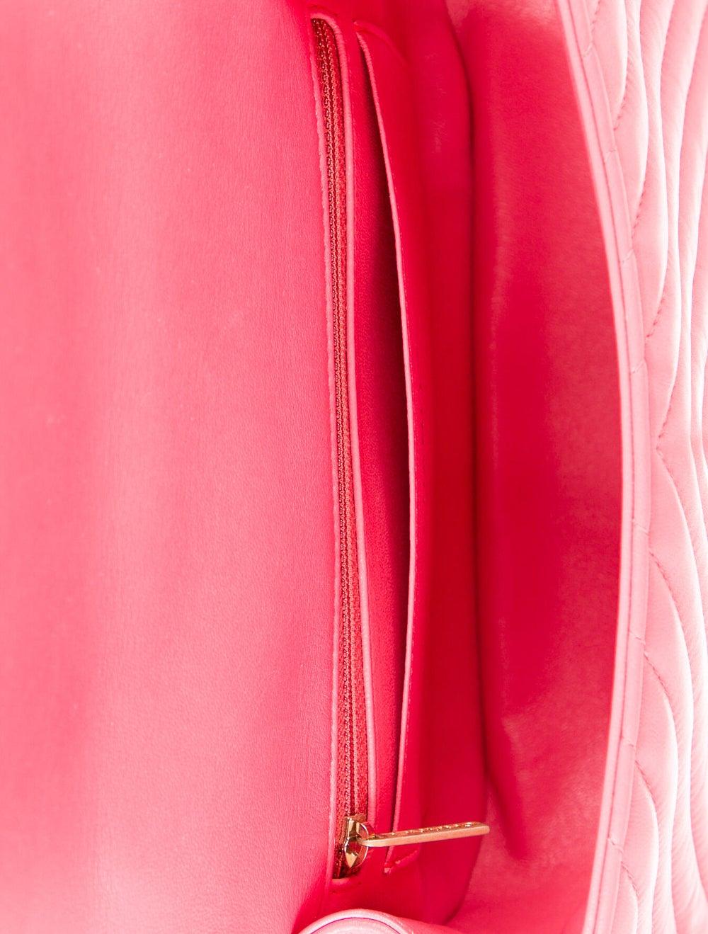 Chanel Reversed Chevron Bag Pink - image 5
