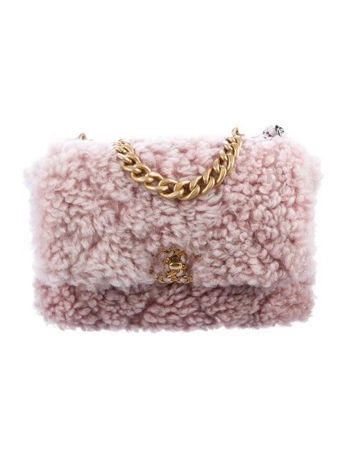 Chanel Shearling 19 Flap Bag Pink - image 1