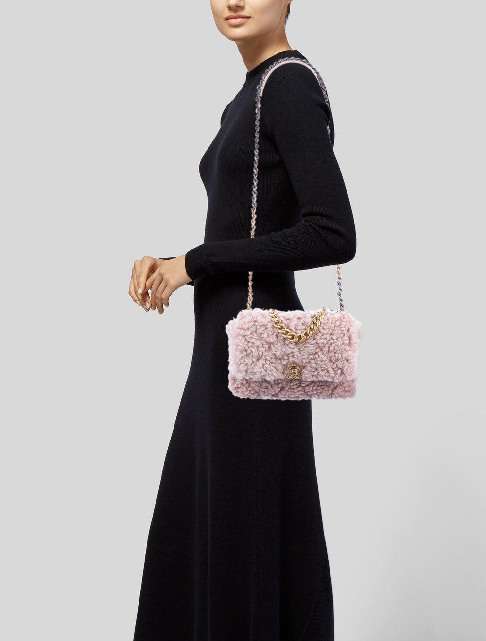 Chanel Shearling 19 Flap Bag Pink - image 2