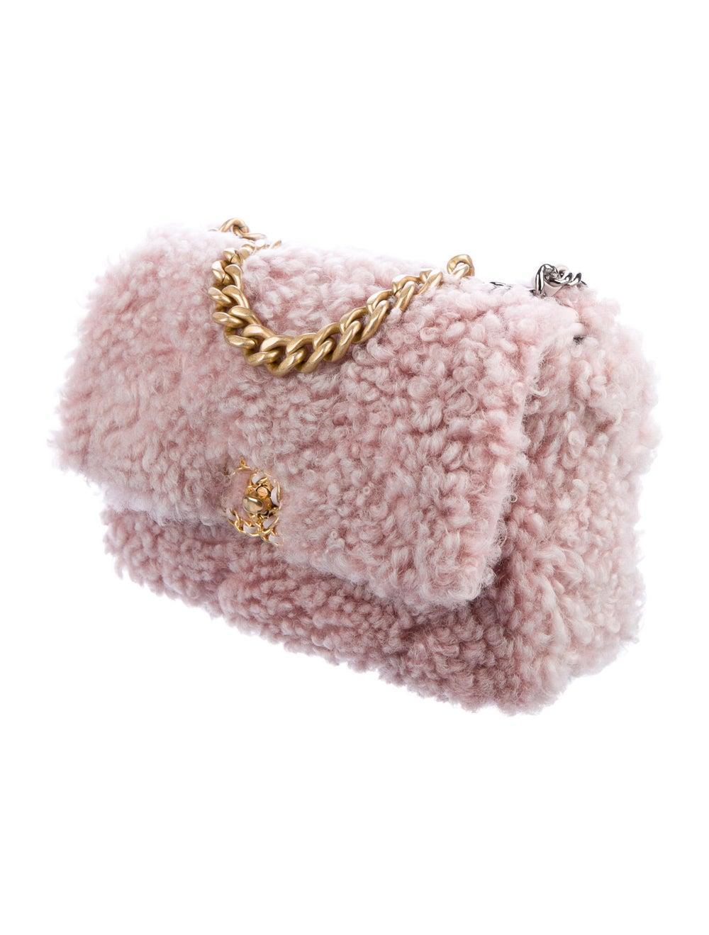 Chanel Shearling 19 Flap Bag Pink - image 3