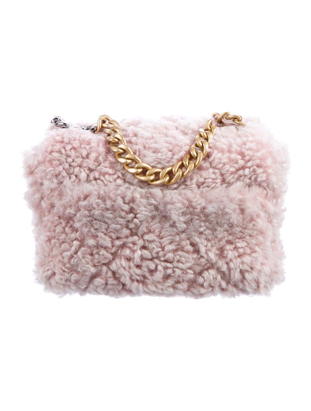 Chanel Shearling 19 Flap Bag Pink - image 4