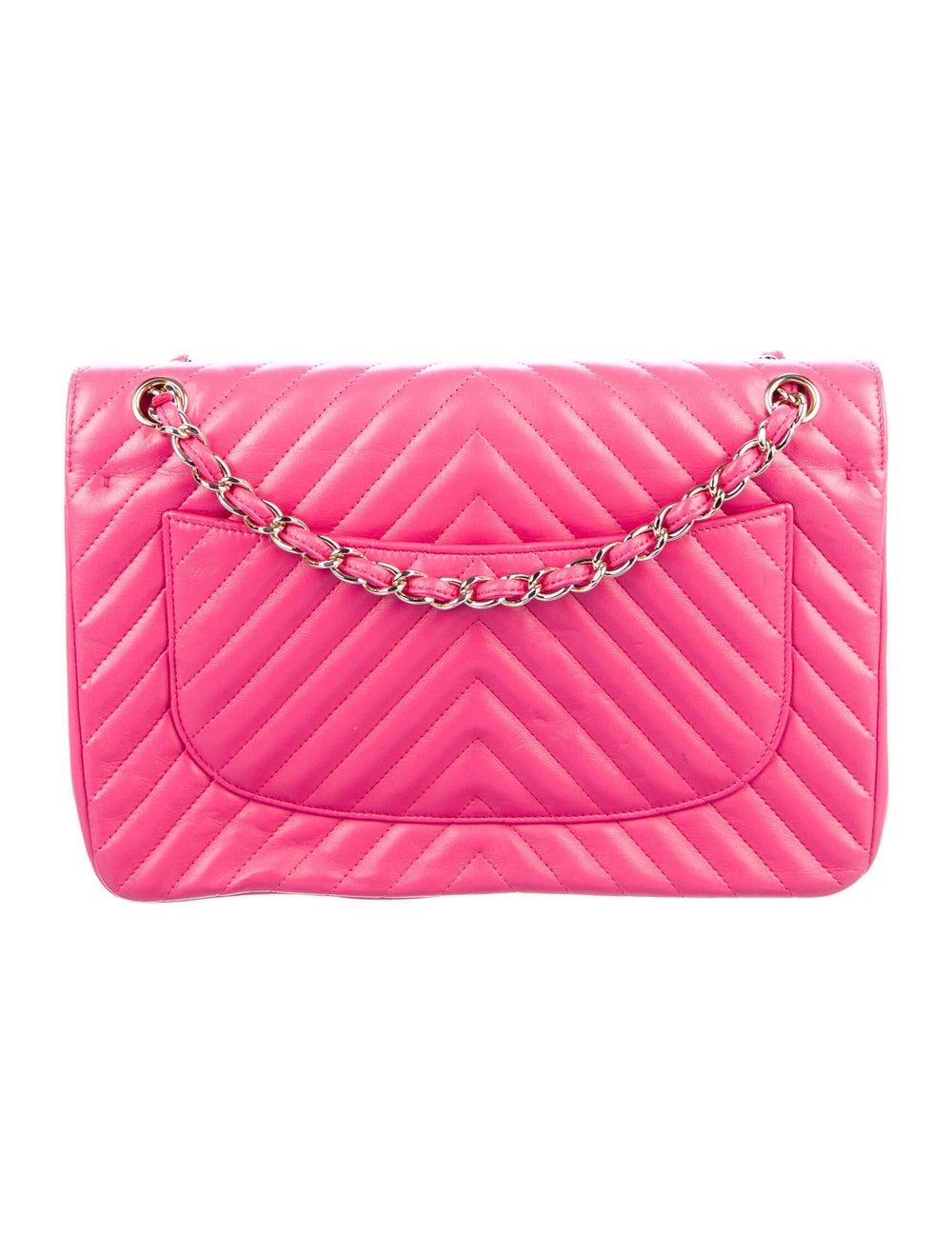 Chanel Jumbo Chevron Double Flap Bag Pink - image 4