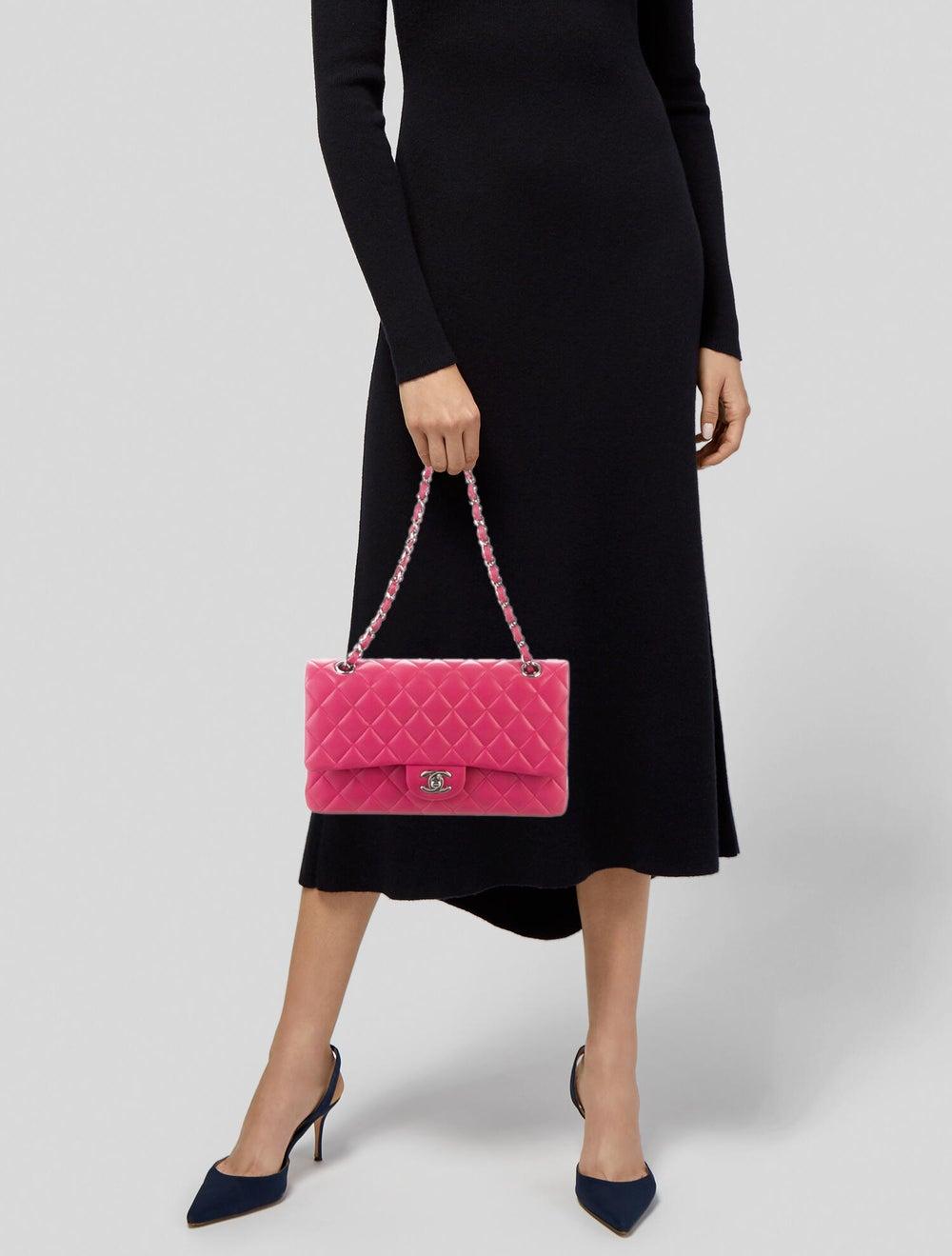 Chanel Classic Medium Double Flap Bag Pink - image 2