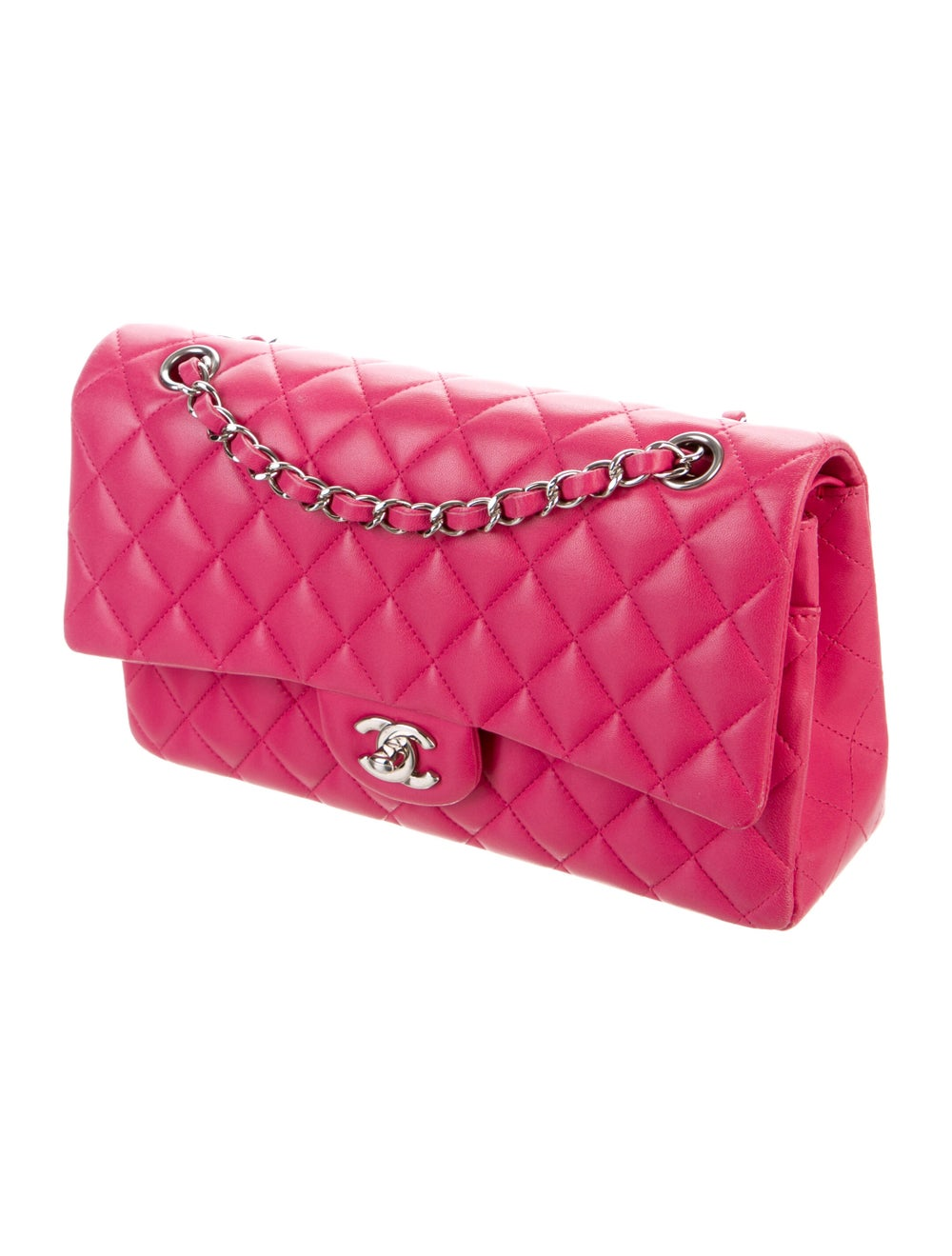 Chanel Classic Medium Double Flap Bag Pink - image 3