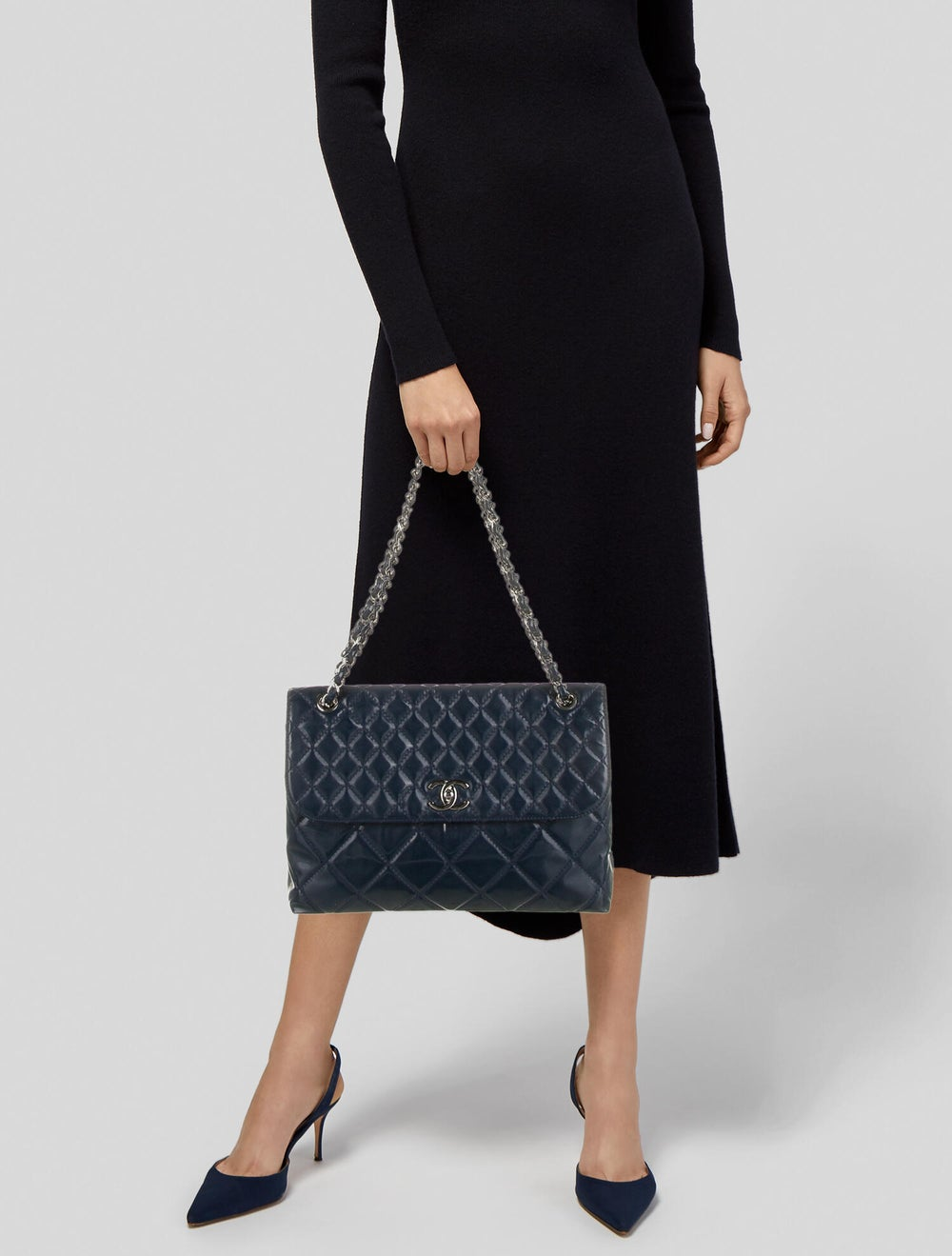 Chanel In The Business Patent Flap Bag Blue - image 2