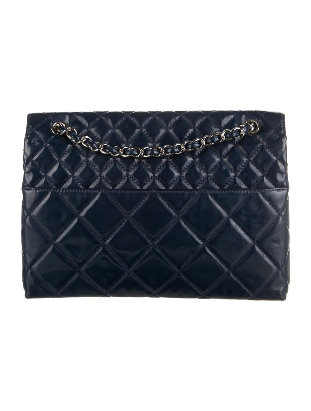 Chanel In The Business Patent Flap Bag Blue - image 4