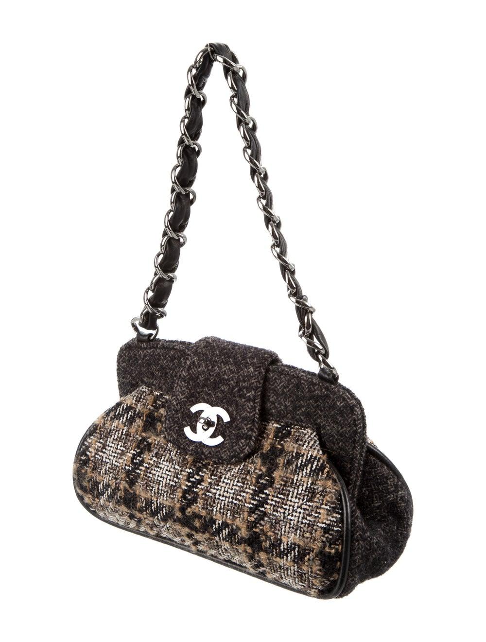 Chanel Tweed Frame Bag Brown - image 3
