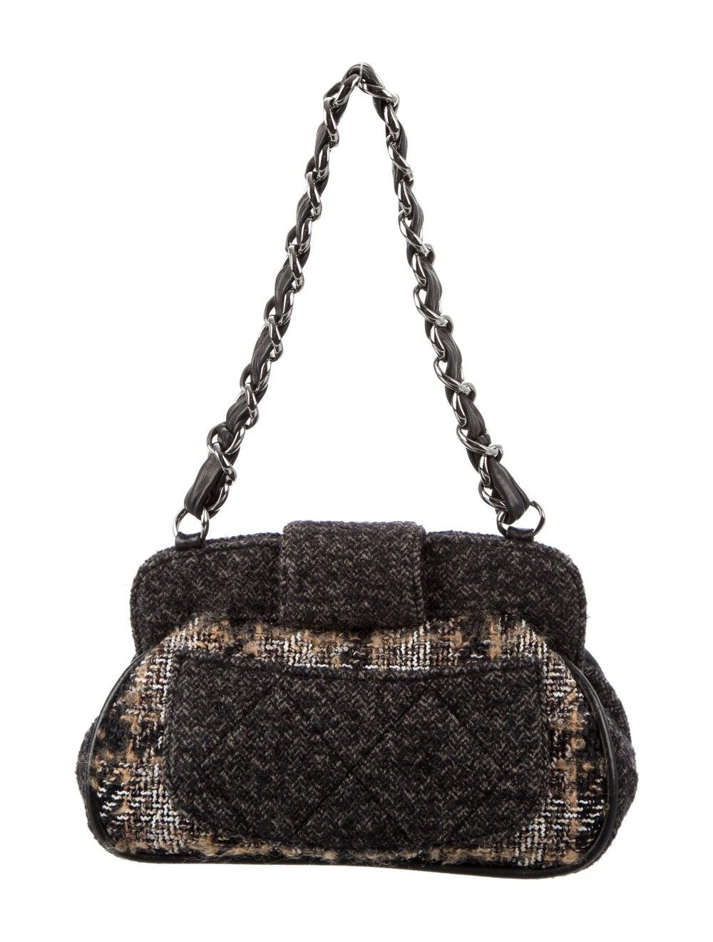 Chanel Tweed Frame Bag Brown - image 4