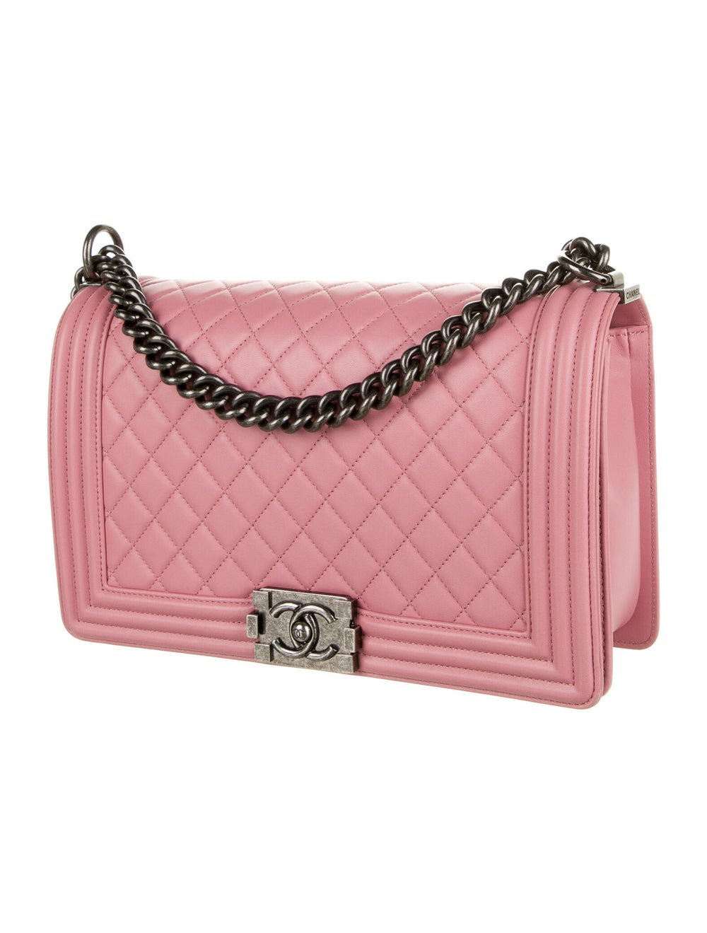 Chanel Large Quilted Boy Bag Pink - image 3