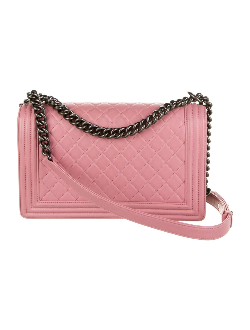 Chanel Large Quilted Boy Bag Pink - image 4