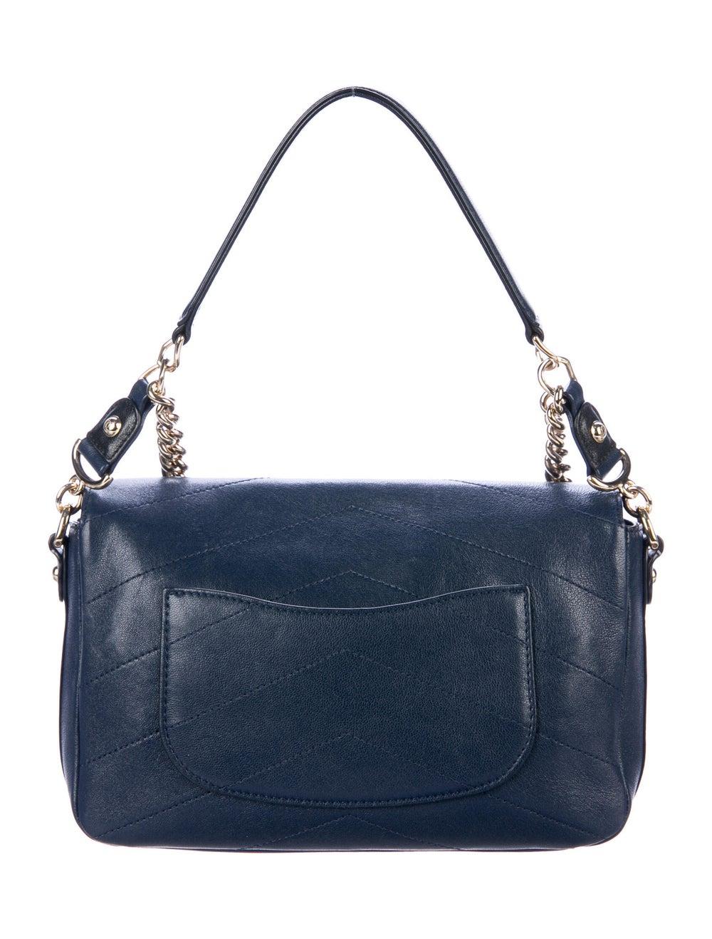 Chanel Paris-Hamburg Double Chevron Flap Bag Blue - image 4