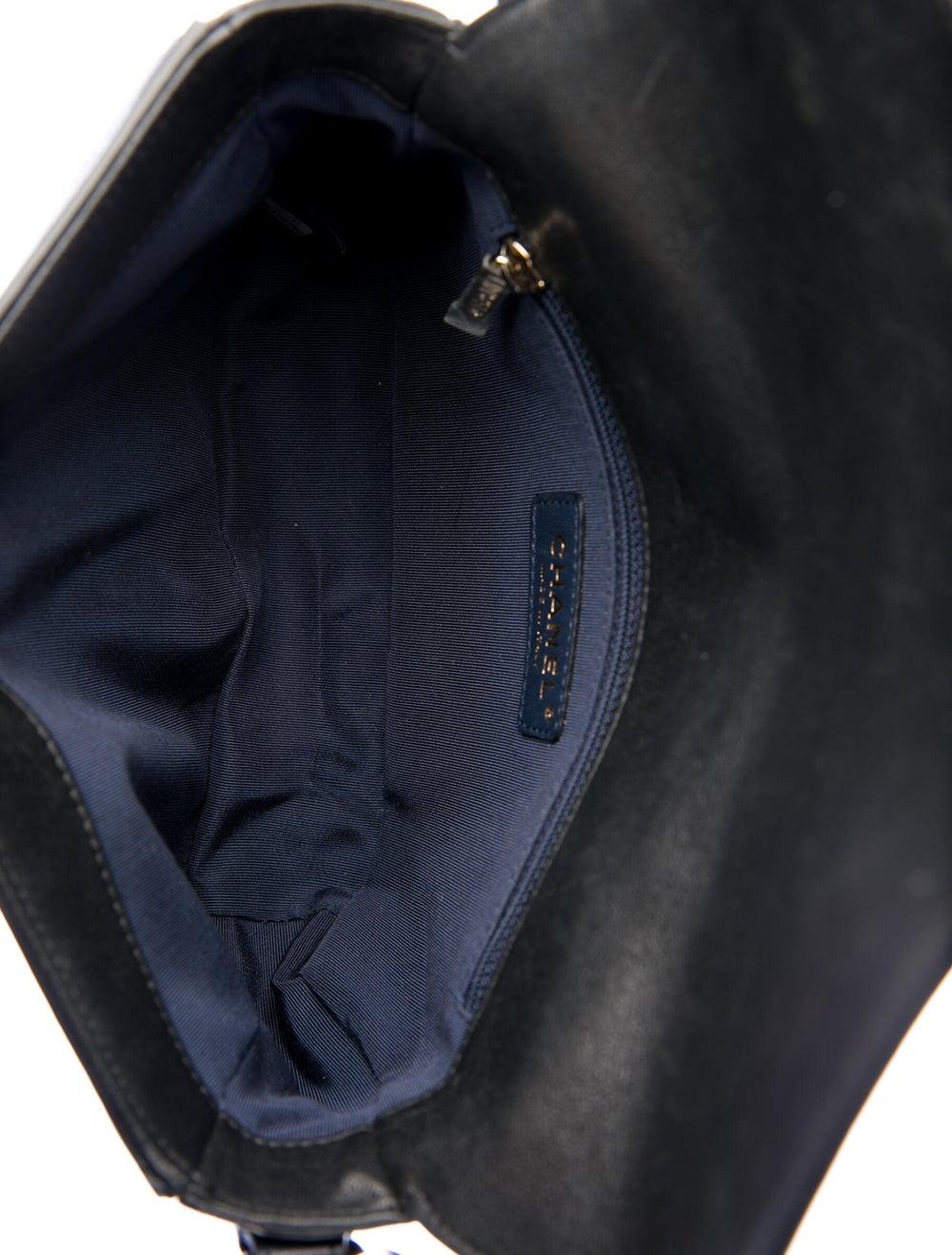 Chanel Paris-Hamburg Double Chevron Flap Bag Blue - image 5