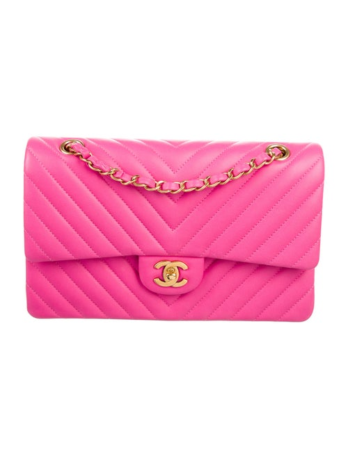 Chanel Chevron Medium Double Flap Bag Pink - image 1