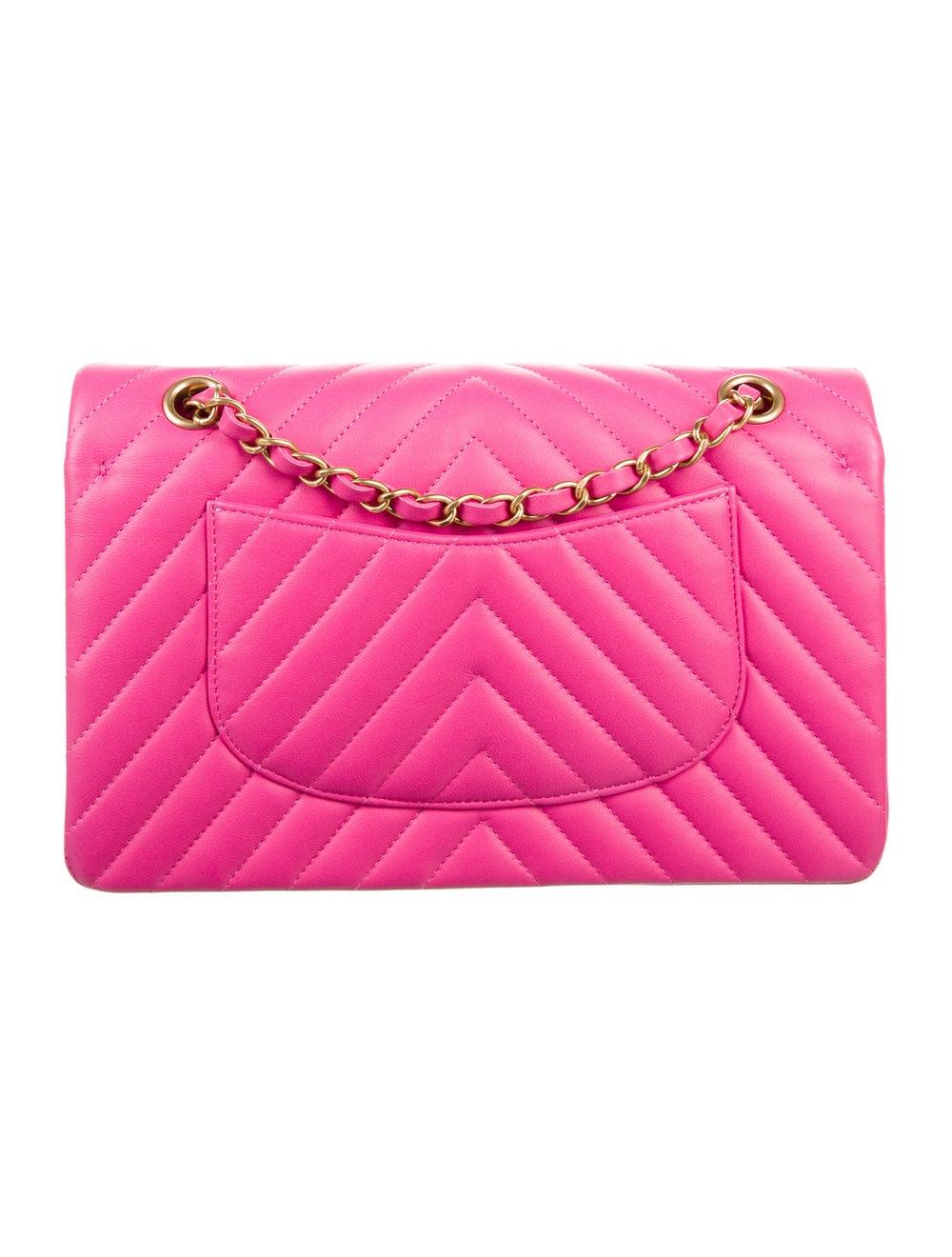 Chanel Chevron Medium Double Flap Bag Pink - image 4