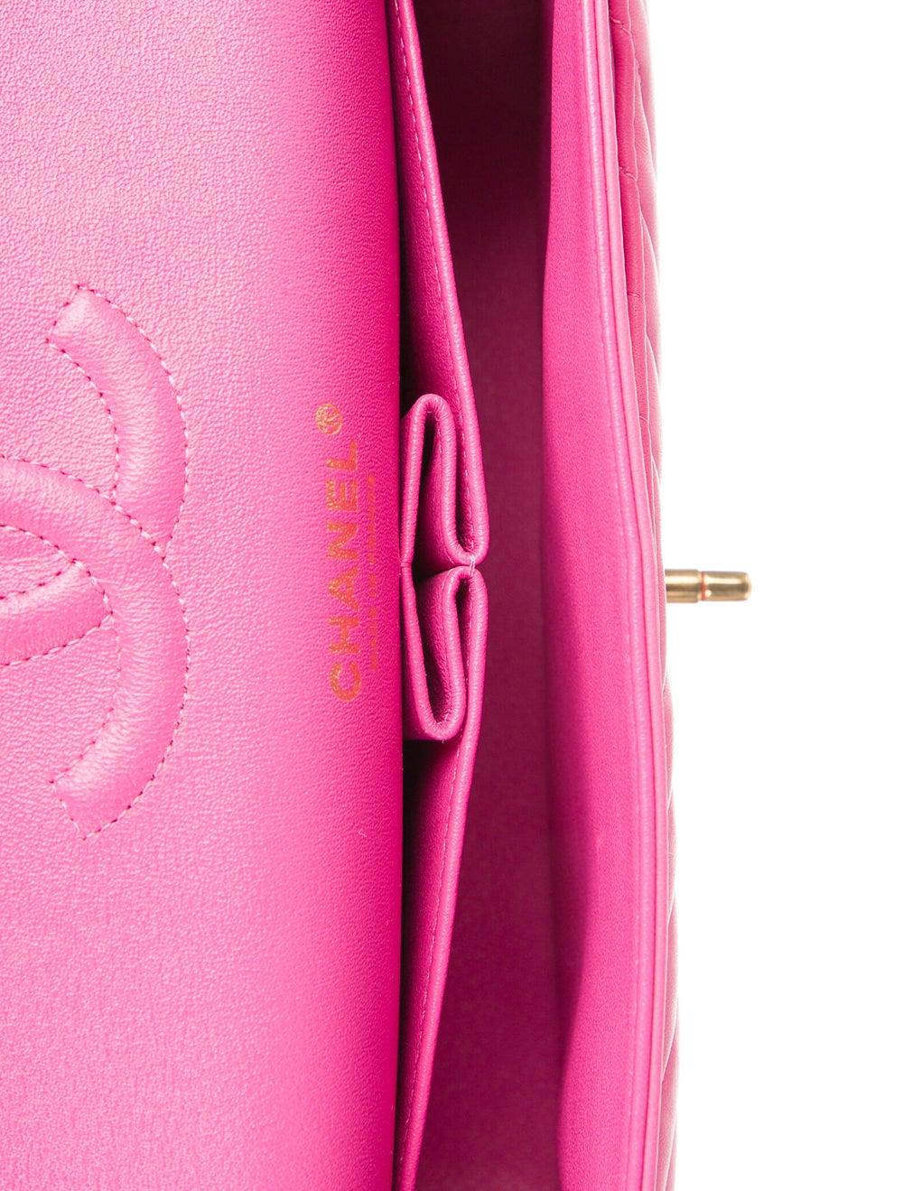 Chanel Chevron Medium Double Flap Bag Pink - image 5