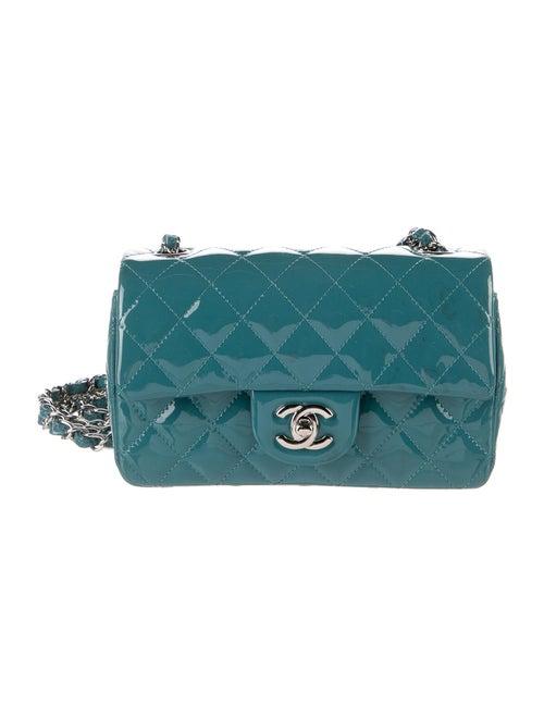 Chanel Classic Rectangular Mini Flap Bag Blue - image 1