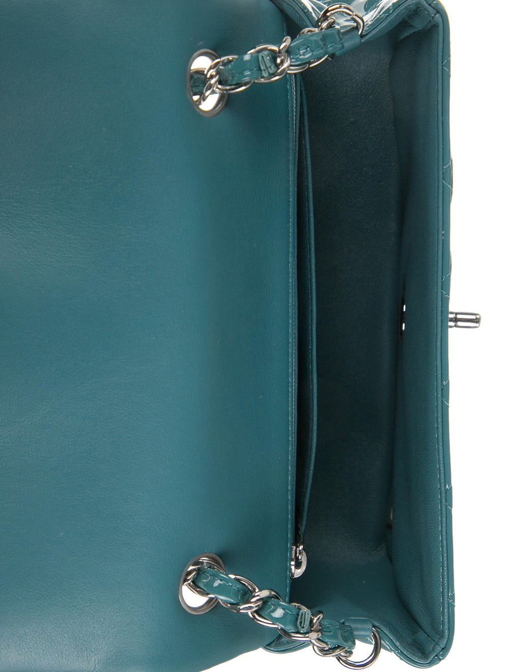 Chanel Classic Rectangular Mini Flap Bag Blue - image 5