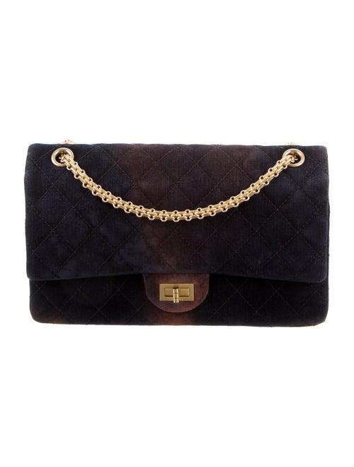 Chanel Velvet Reissue 226 Double Flap Bag Blue - image 1