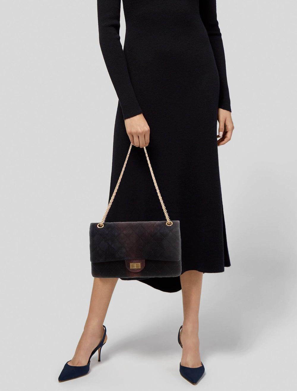 Chanel Velvet Reissue 226 Double Flap Bag Blue - image 2