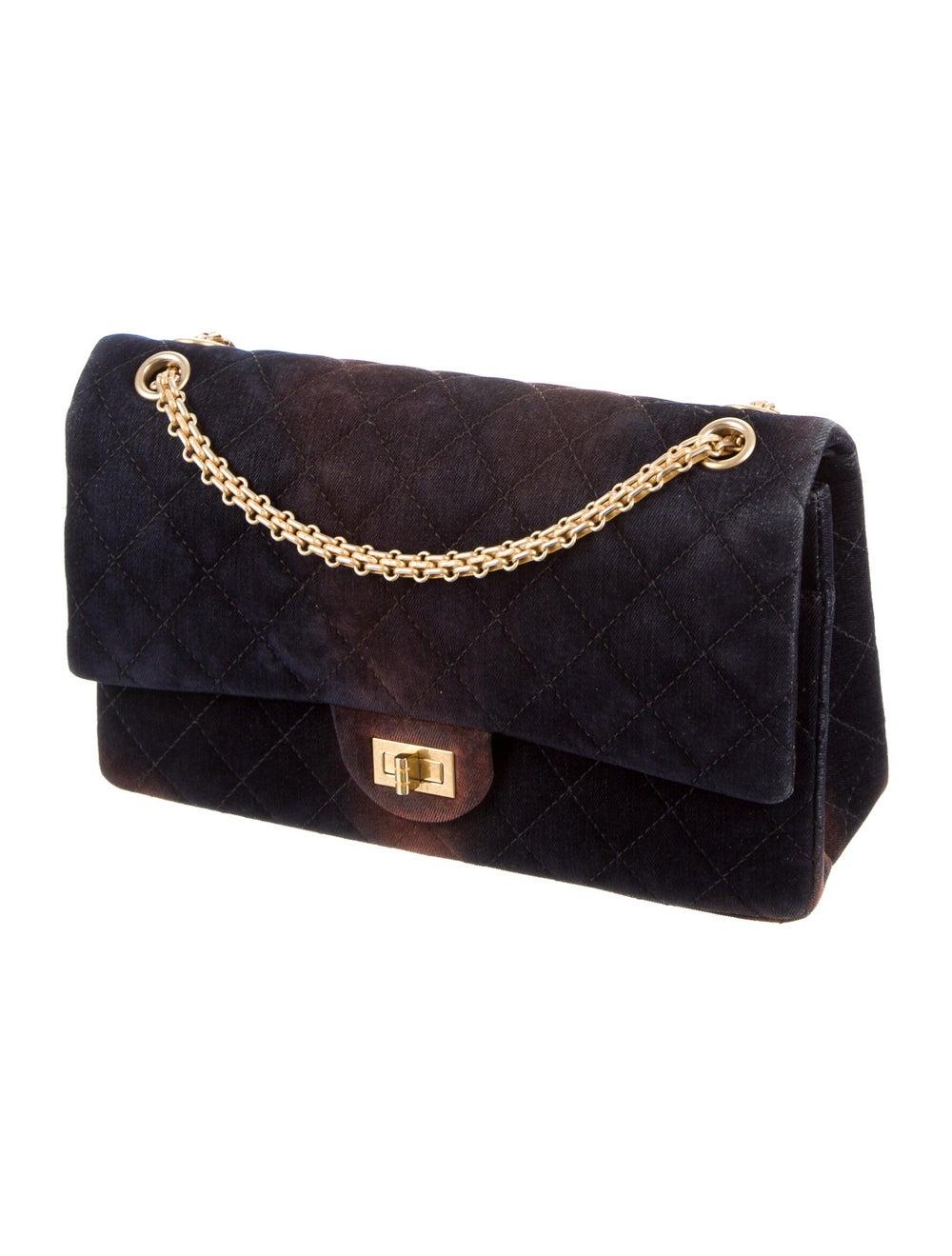 Chanel Velvet Reissue 226 Double Flap Bag Blue - image 3
