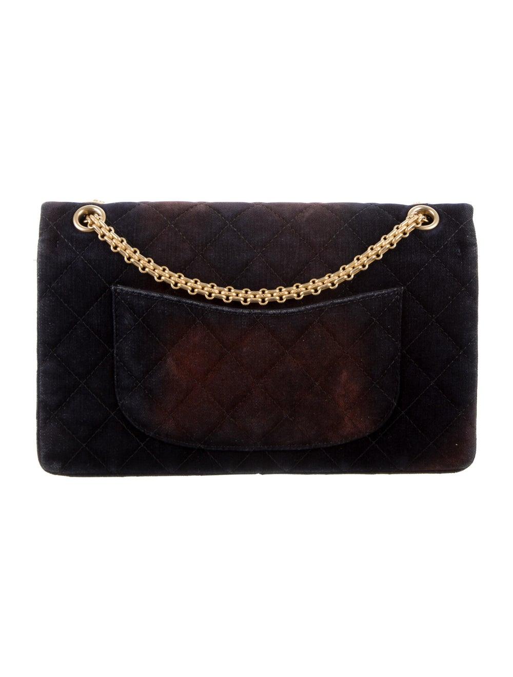 Chanel Velvet Reissue 226 Double Flap Bag Blue - image 4
