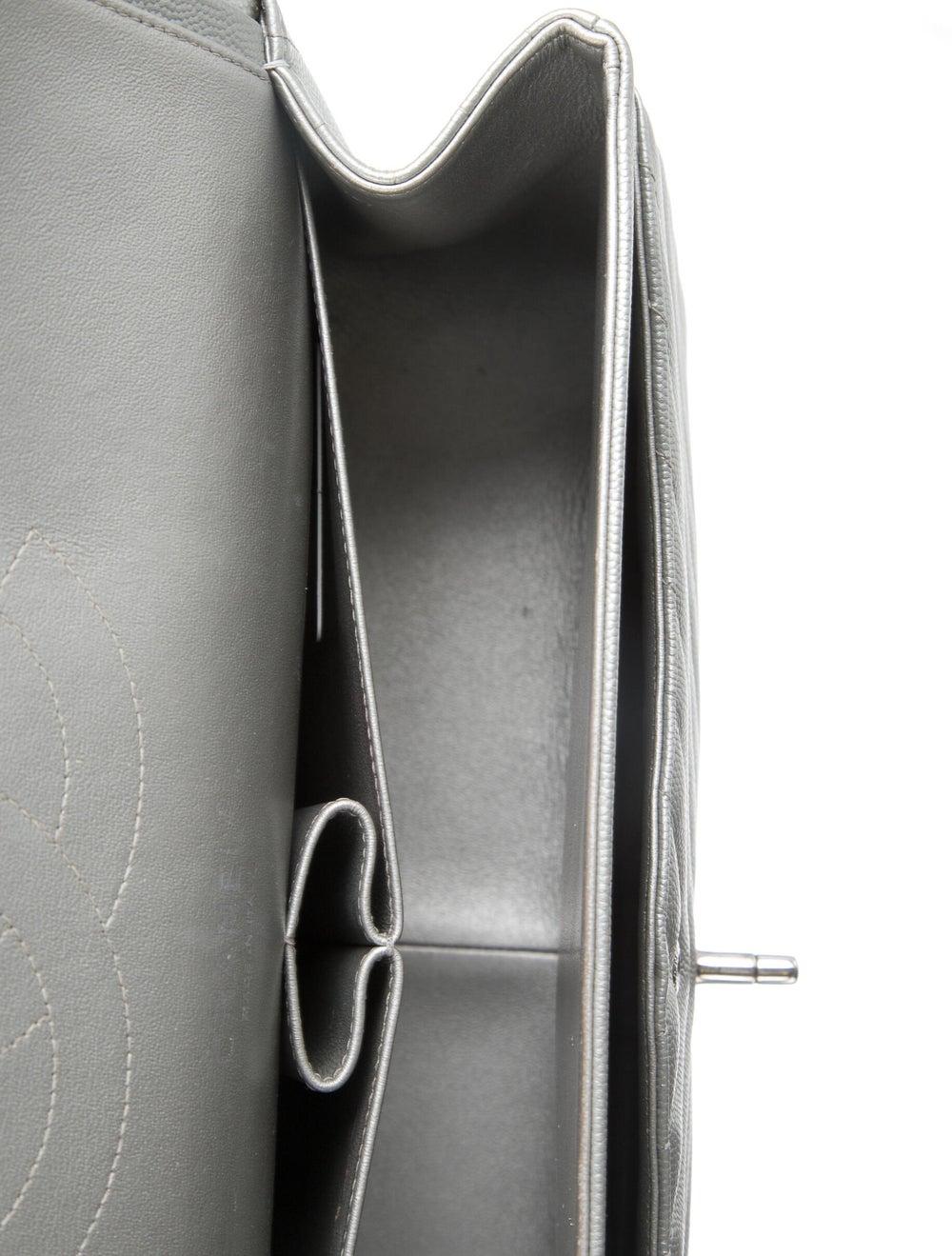 Chanel Classic Jumbo Chevron Double Flap Bag Meta… - image 5
