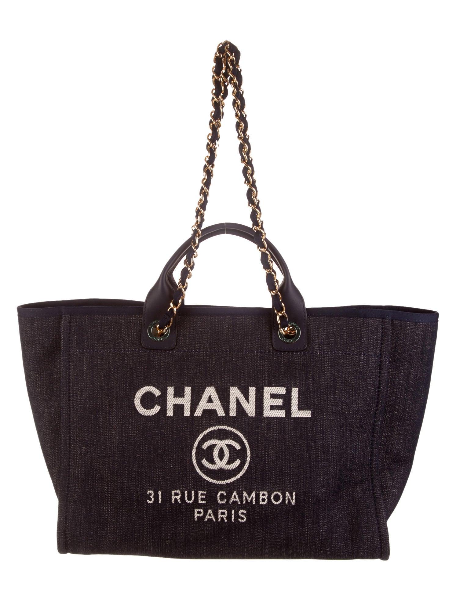 200a316b74df Chanel Denim 31 Rue Cambon Tote w  Tags - Handbags - CHA55520