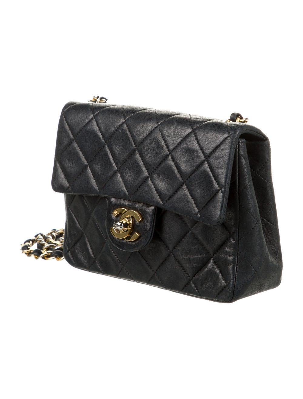 Chanel Vintage Classic Mini Square Flap Bag Blue - image 3