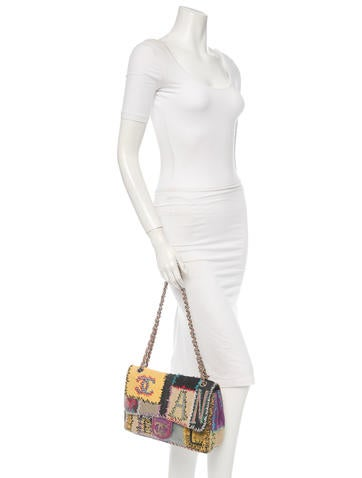 Jumbo Patchwork Flap Bag