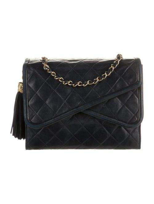 Chanel Vintage Mini Quilted Flap Bag Blue - image 1