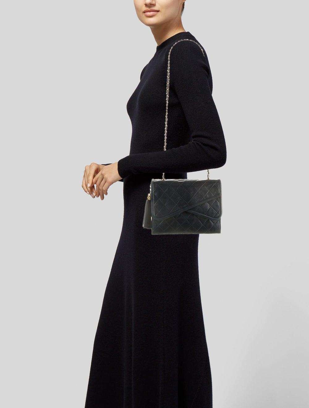 Chanel Vintage Mini Quilted Flap Bag Blue - image 2