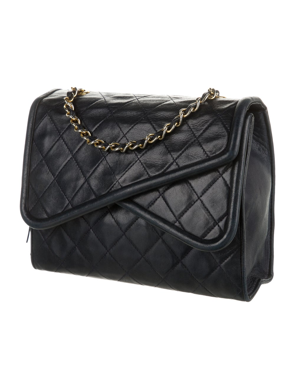 Chanel Vintage Mini Quilted Flap Bag Blue - image 3