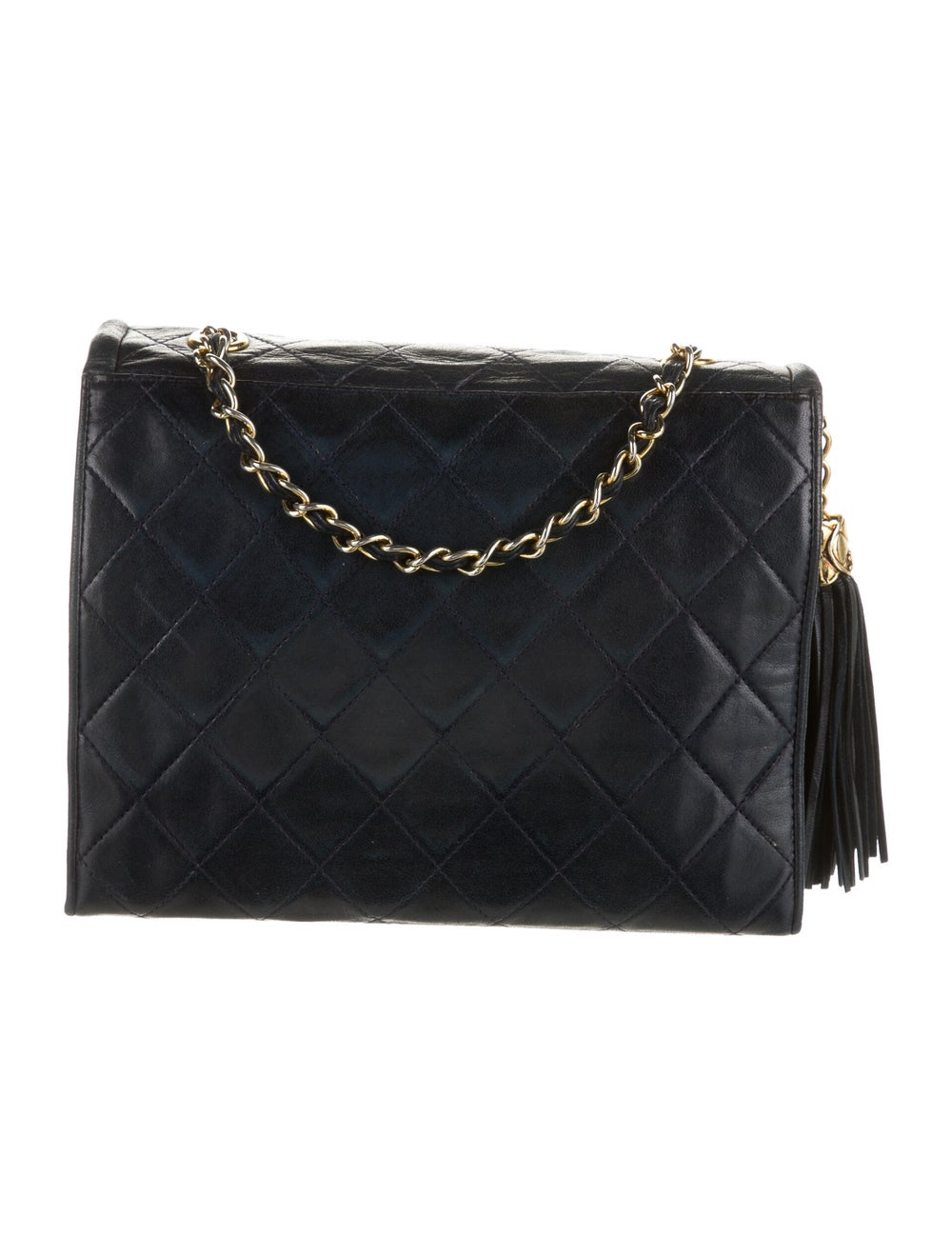 Chanel Vintage Mini Quilted Flap Bag Blue - image 4