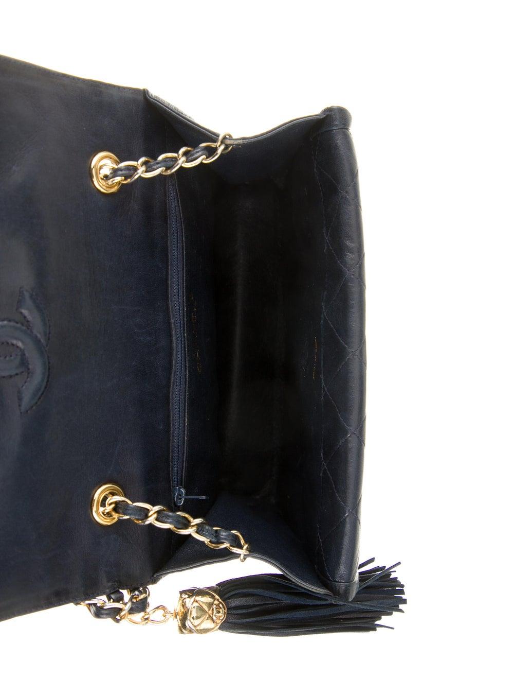 Chanel Vintage Mini Quilted Flap Bag Blue - image 5