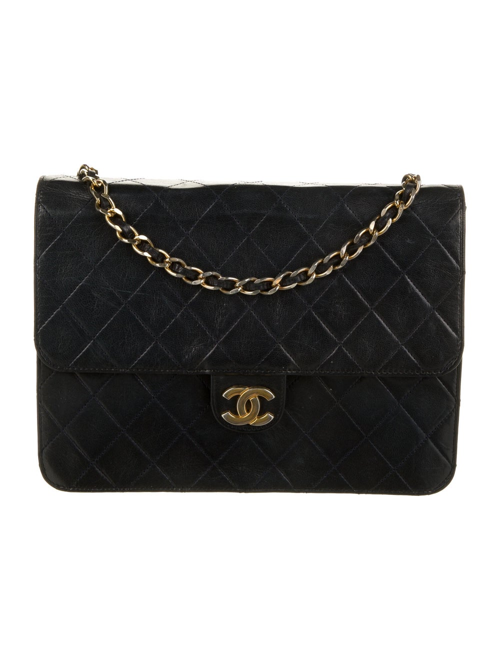 Chanel Vintage Classic Single Flap Bag Blue - image 1