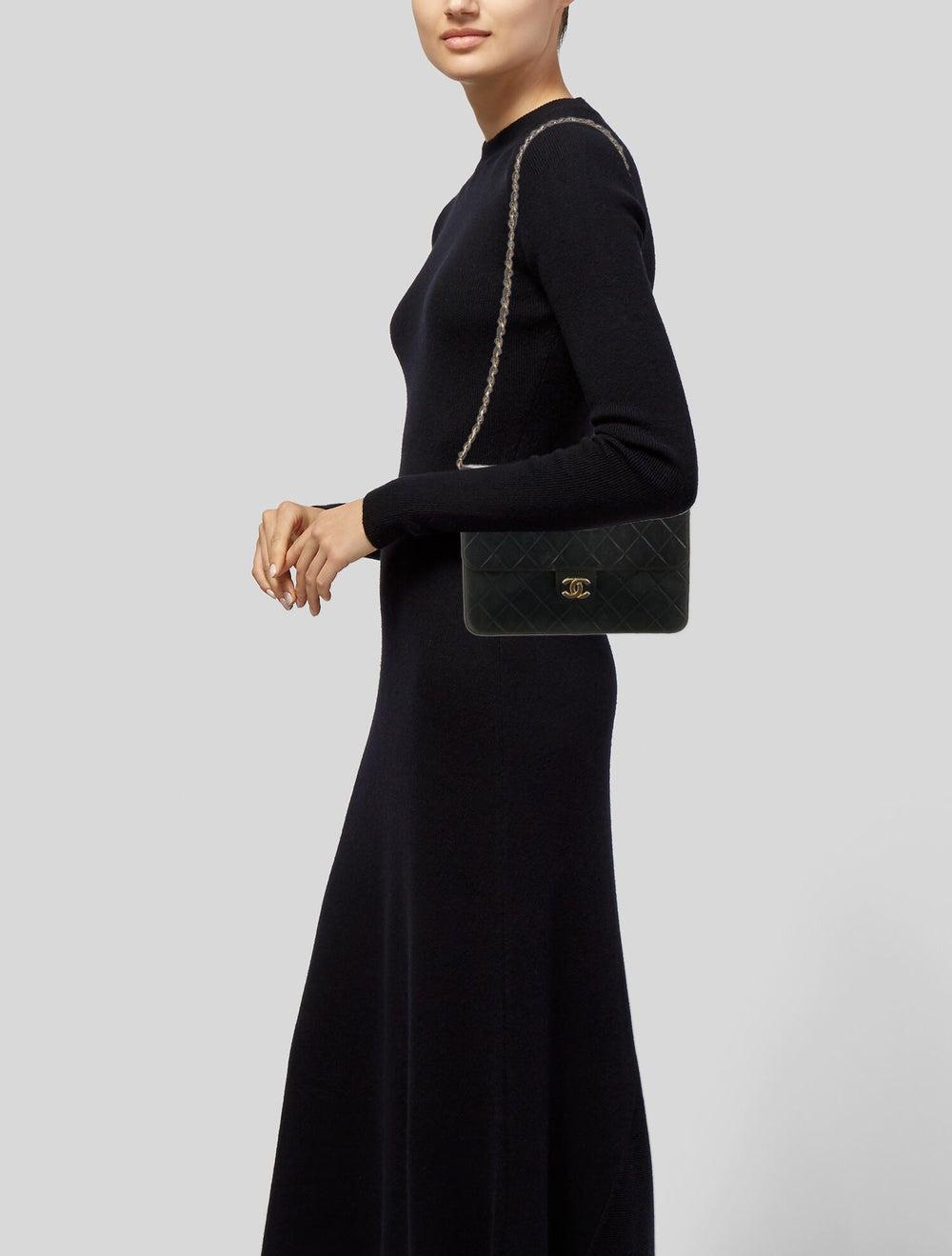 Chanel Vintage Classic Single Flap Bag Blue - image 2