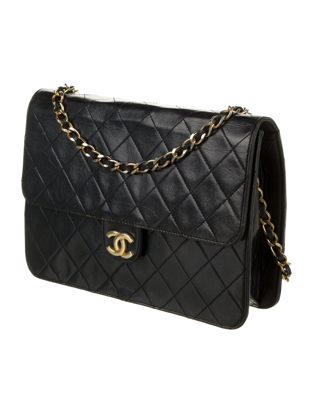 Chanel Vintage Classic Single Flap Bag Blue - image 3