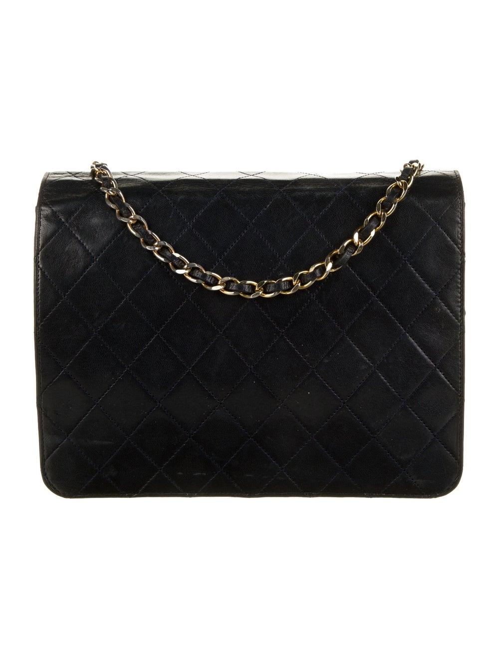 Chanel Vintage Classic Single Flap Bag Blue - image 4
