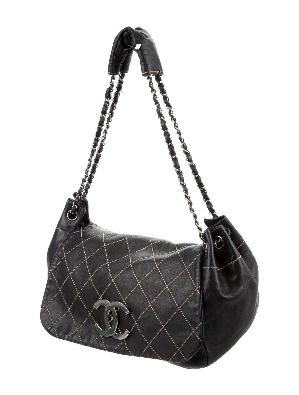 Chanel Surpique Accordion Flap Bag Blue - image 3