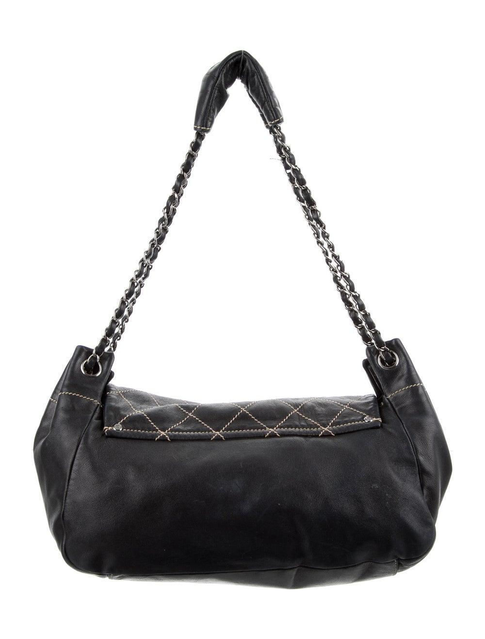 Chanel Surpique Accordion Flap Bag Blue - image 4
