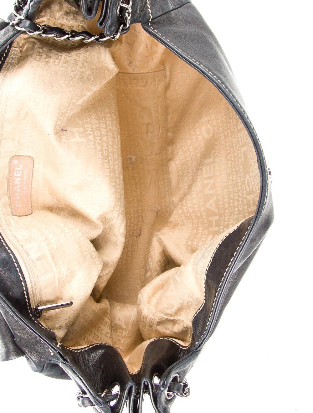 Chanel Surpique Accordion Flap Bag Blue - image 5